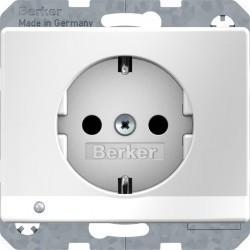 Розетка Berker ARSYS, скрытый монтаж, с заземлением, белый, 41090069