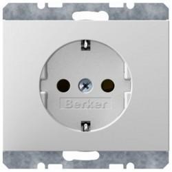 Розетка Berker, скрытый монтаж, с заземлением, белый, 41157009