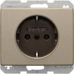 Розетка Berker ARSYS, скрытый монтаж, с заземлением, светло-бронзовый, 47140001