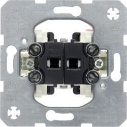 Механизм выключателя 2-клавишного кнопочного Berker Коллекции Merten, скрытый монтаж, 503501