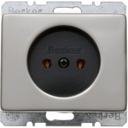 Розетка Berker ARSYS, скрытый монтаж, стальной, 6161140004