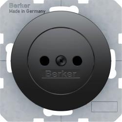 Розетка Berker, скрытый монтаж, черный блестящий, 6167032045