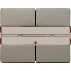 KNX Arsys Клавишный сенсор с полем для надписей, 2-кан. , светло-бронз. металл.