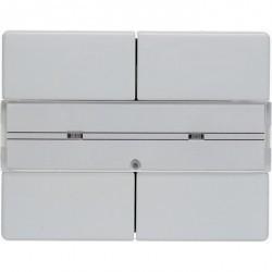 KNX Arsys Клавишный сенсор с полем для надписей, 2-кан., бел.