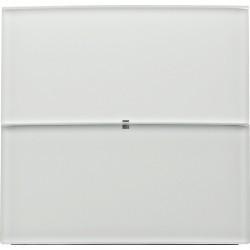 Клавишный сенсор Комфорт, 2-канальный стекло,цвет: полярная белизна B.IQ glass
