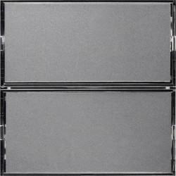 KNX S.1/B.3/B.7 Клавишный сенсор Комфорт с полем для надписей, 2-канальный