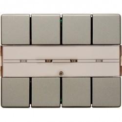 KNX Arsys Клавишный сенсор с полем для надписей, 4-кан. , светло-бронз. металл.