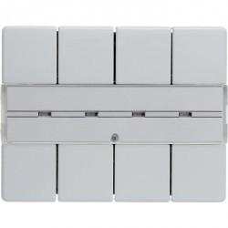 KNX Arsys Клавишный сенсор с полем для надписей, 4-кан., бел.