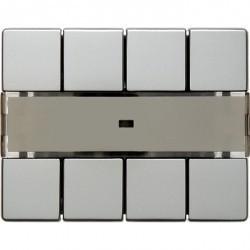 KNX Arsys Клавишный сенсор световых сцен Комфорт с полем для надписей, стальн. металл.