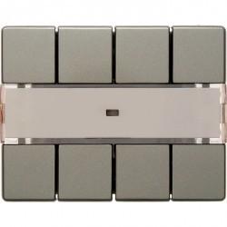 KNX Arsys Клавишный сенсор световых сцен Комфорт с полем для надписей , светло-бронз. металл.