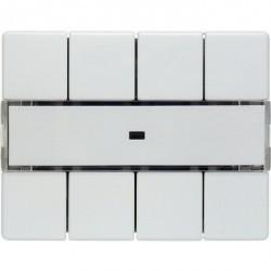 KNX Arsys Клавишный сенсор световых сцен Комфорт с полем для надписей, бел. Berk