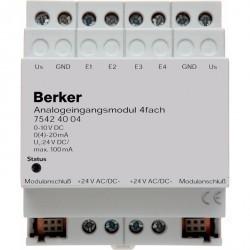 Входной аналоговый 4-канальный модуль REG цвет: светло-серый instabus KNX/EIB
