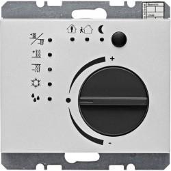 K.5 Регулятор температуры с кнопочным интерфейсом, алюминий