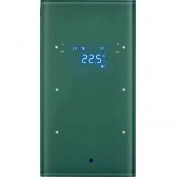 Стеклянный сенсор 2-канальный с регулятором температуры помещения, Berker TS Sensor, бел.