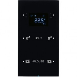 Touch sensor, 2-канальный, стекло, with thermostat, черный, с конфигуратором, R.3