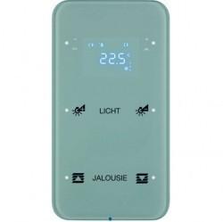 Touch sensor, 2-канальный, стекло, with thermostat, полярн.белый, с конфигуратором, R.3