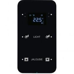 Touch sensor, 2-канальный, стекло, with thermostat, черный, с конфигуратором, R.1