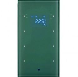 Стеклянный сенсор 3-канальный с регулятором температуры помещения, Berker TS Sensor, бел.