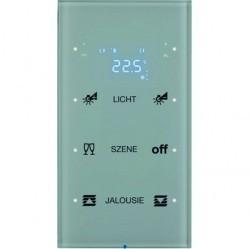 Touch sensor, 3-канальный, стекло, with thermostat, полярн.белый, с конфигуратором, R.3