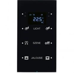 Touch sensor, 3-канальный, стекло, with thermostat, черный, с конфигуратором, R.3