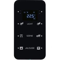 Touch sensor, 3-канальный, стекло, with thermostat, черный, с конфигуратором, R.1