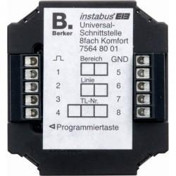 KNX Универсальный интерфейс Комфорт для скрытого монтажа, 8-канальный цвет: черный instabus