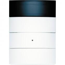 KNX B.IQ Клавишный сенсор с регулятором температуры и дисплеем, 3-канальный, бел. матовый
