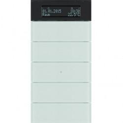 Клавишный сенсор с регулятором температуры и дисплеем, 5-канальный стекло, цвет: полярная белизна B.