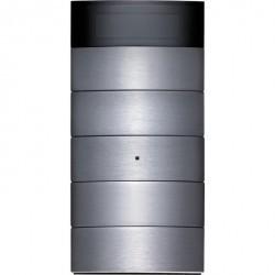 Клавишный сенсор с регулятором температуры и дисплеем, 5-канальный цвет: нержавеющая сталь B.IQ
