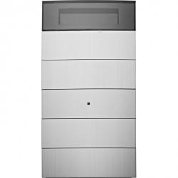 Клавишный сенсор 5-канальный с регулятором температуры и дисплеем B.IQ Alu