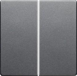Клавиша двойная Berker, алюминий бархатный, 85146124