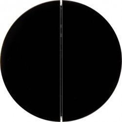 Клавиша двойная Berker BERKER. NET, черный блестящий, 85146131