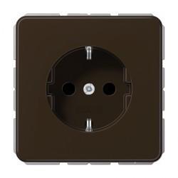 Розетка Jung CD 500, скрытый монтаж, с заземлением, коричневый, CD1520BR