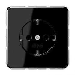 Розетка Jung CD 500, скрытый монтаж, с заземлением, черный, CD1520SW