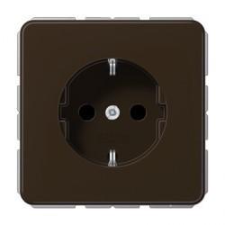 Розетка Jung CD 500, скрытый монтаж, с заземлением, коричневый, CD1521BR
