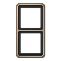 Рамка 2 поста Jung CD 500, бронзовый, CD582GB