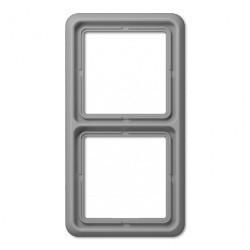 Рамка 2 поста Jung CD 500, алюминий, CD582GR