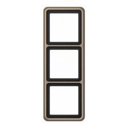 Рамка 3 поста Jung CD 500, бронзовый, CD583GB