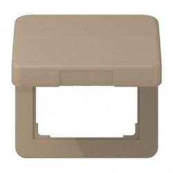Накладка на розетку Jung CD 500, с заземлением, с крышкой, бронзовый, CD590KLGB