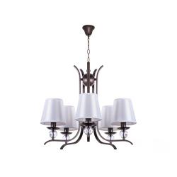 Люстра BENETTI Classic Decente коричневый/белый 5хE14 CLS-006-9170-05/C