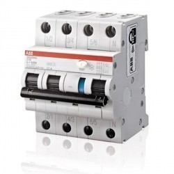 Дифавтомат ABB DS200 3P 10А (B) 6кА 100мА (AC), 2CSR256040R2105