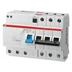 Дифавтомат ABB DS200 3P 10А (B) 6кА 30мА (A), 2CSR253101R1105