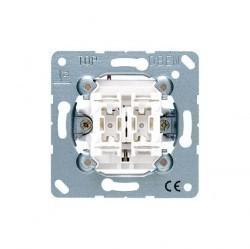 Механизм выключателя 2-клавишного Jung ECO PROFI, скрытый монтаж, EP405U