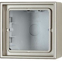 LSmetal Коробка 1-ная для накладного монтажа, стальн.