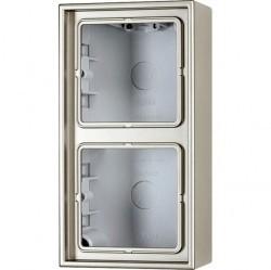 LSmetal Коробка 2-ная для накладного монтажа, стальн.