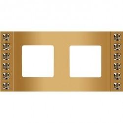 Рамка 2 поста Fede CRYSTAL DE LUXE, real gold, FD01212OROS2