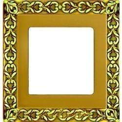 Рамка 1 пост Fede SAN SEBASTIAN, gold white patina, FD01221OP