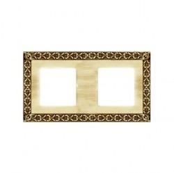 Рамка 2 поста Fede SAN SEBASTIAN, bright gold, FD01222OB