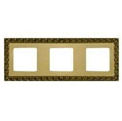 Рамка 3 поста Fede SAN SEBASTIAN, bright gold, FD01223OB
