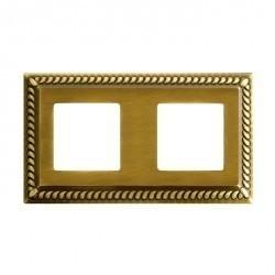 Рамка 2 поста Fede SEVILLA, bright gold, FD01232OB
